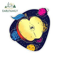 EARLFAMILY 13cm x 12cm For Space Apple DIY Car Stickers Vinyl Material Decal Waterproof Occlusion Scratch For JDM SUV RV