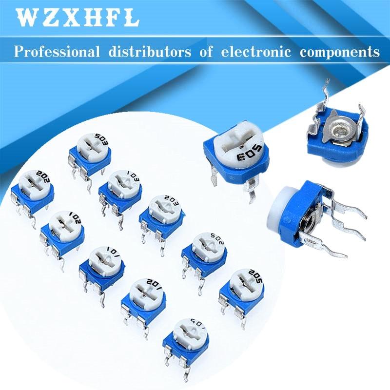 20 штук RM065 RM-065 100 200 500 1K, 2K 5K 10K 20K 50K 100K 200K 500K 1 м Ом Подстроечный резистор подстроечный потенциометр переменный резистор