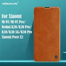 Voor Xiaomi Mi 9T Redmi K20 K30 Pro 5G Flip Case Mi9T Pro Cover Nillkin Qin Leather Flip cover Card Pocket Voor Xiaomi Poco X2