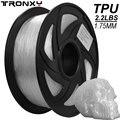 Tronxy 3d принтер много цветов нить TPU 3D Гибкая нить TPU 1,75 мм 2,2 фунтов (1 кг) материал