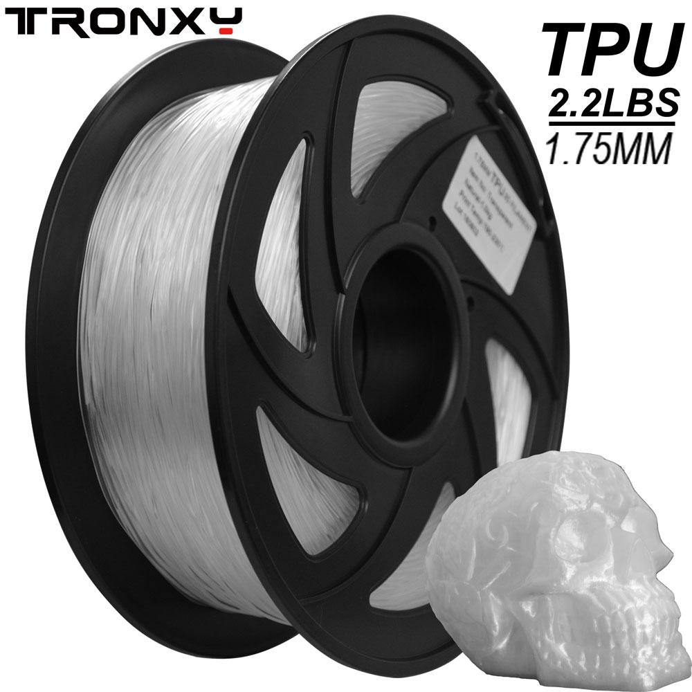 Tronxy 3d printer Many Colors Filament TPU 3D Flexible TPU Filament 1.75mm 2.2 LBS (1KG) Material