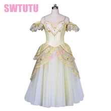 Ballet skit,ballet stage costumes, white professional ballet tutu ,Classical hot product! the new of 2014 BT8902