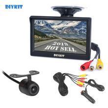 """DIYKIT 5 """"TFT LCD rétroviseur voiture moniteur   étanche recul caméra de recul 2In1 Kit de système de stationnement de voiture"""