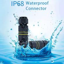 Waterproof Cable Connector T Type 3 Pin 4 IP68 20A 450V Electrical Sealed Retardant AC Junction Box for Outdoor Lighting