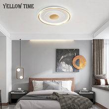 Okrągłe lampy sufitowe nowoczesne lampy sufitowe LED żyrandol do salonu sypialnia jadalnia kuchnia oświetlenie wewnętrzne domu oprawy tanie tanio yellow time CN (pochodzenie) 20 Metrów 10-15square KİTCHEN Łóżko pokój Foyer Badania 90-260 v Klin Złota Aluminium