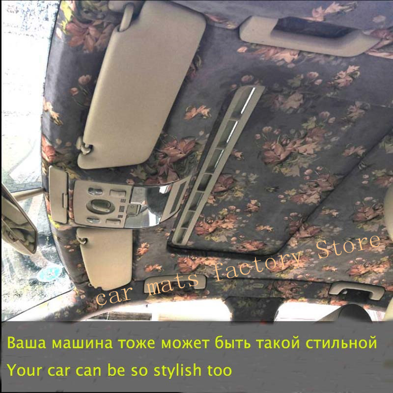 Car Interior Renovation Color Change Suede Modified Ceiling Maintenance Fashion Car Interior Color Change Raw Materials