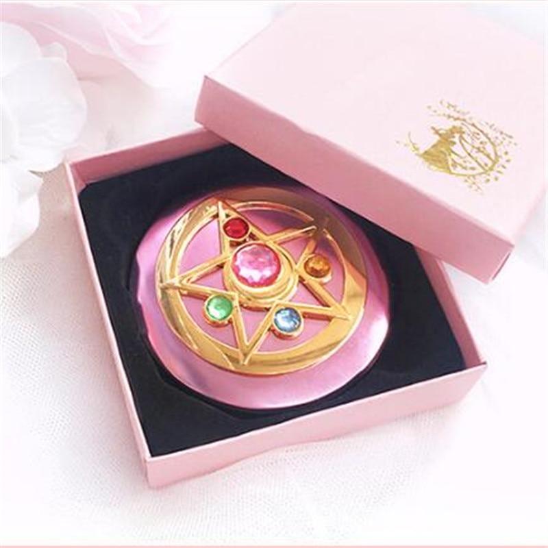 Cartoon Anime Sailor Moon Periphery Transforming Mirror Personality Girl Portable Makeup Mirror Small Mirror Gift