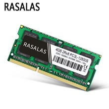 Rasalas DDR3 DDR4 RAM GB GB 16 8 4GB SO-DIMM PC3-10600S 12800S 21300S 1333Mhz 1,5V Notebook 204Pin Memória Portátil Sodimm NO-ECC