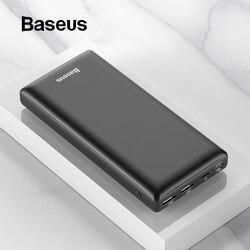 Baseus 30000 mah banco de potência pd usb c carregamento rápido powerbank para iphone11 samsung huawei tipo c carregador portátil bateria externa