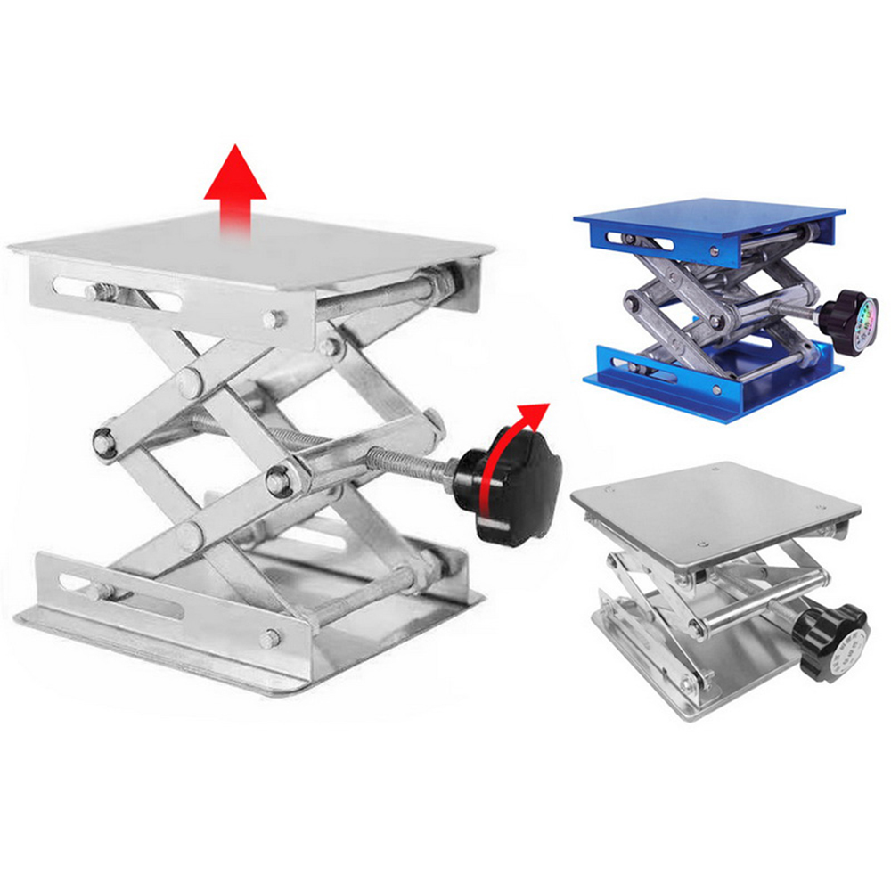 Aluminum Router Lift Table Woodworking Engraving Laboratory Lifting Stand Rack Lift Mini Platform Woodworking Benches