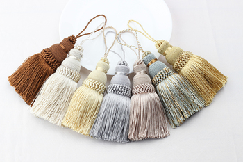 1Pc Home Decor Hanging Rope Silk Tassel Fringe  Tassel trim Garment Decoration Key Tassels for DIY Embellish Curtain Accessories 3m small tassel fringe trim craft tassel curtain hanging pendant diy room accessories key tassel wedding jewelry accessories