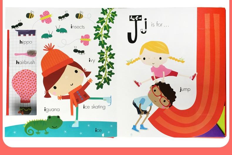 2 libros/juego mi increíble número de alfabeto libros de cartón inglés bebé niños aprendizaje educativo palabra libro en forma de letra    3