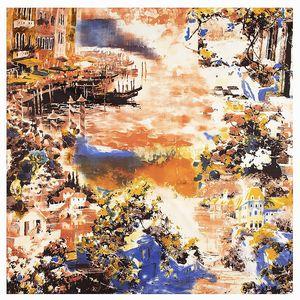Image 5 - 2020 Nieuwe Winter Sjaal Van Gogh Olieverf Luxe Merk Twill Zijde Groothandel Vierkante Sjaal Hoofddoek Sjaal Sjaals Voor vrouwen