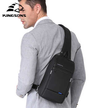 Kingsons Male Chest Bag Men\'s Crossbody Bag Small For Men Single Shoulder Strap Back pack Casual Travel Bags - Category 🛒 Luggage & Bags