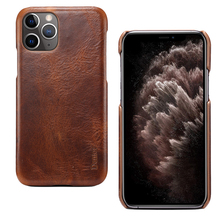 For iPhone 11 Oil Cowhide Genuine Leather Case