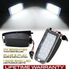 2Pcs 6000K Fehler Free LED Unter Seite Spiegel Licht Pfütze Lampe Für Volvo S60 S80 V70 2 CH XC70 2 XC90 Auto LED Courtesy licht