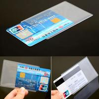 10Pcs  PVC ID Card Holder Tire Protector Card Case Student Credit Card Protect Business Card Cover Transparent Protective Cover