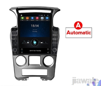 9.7 octa core tesla style vertical screen Android 10 Car GPS radio Navigation for Kia Carens 2007-2011 image