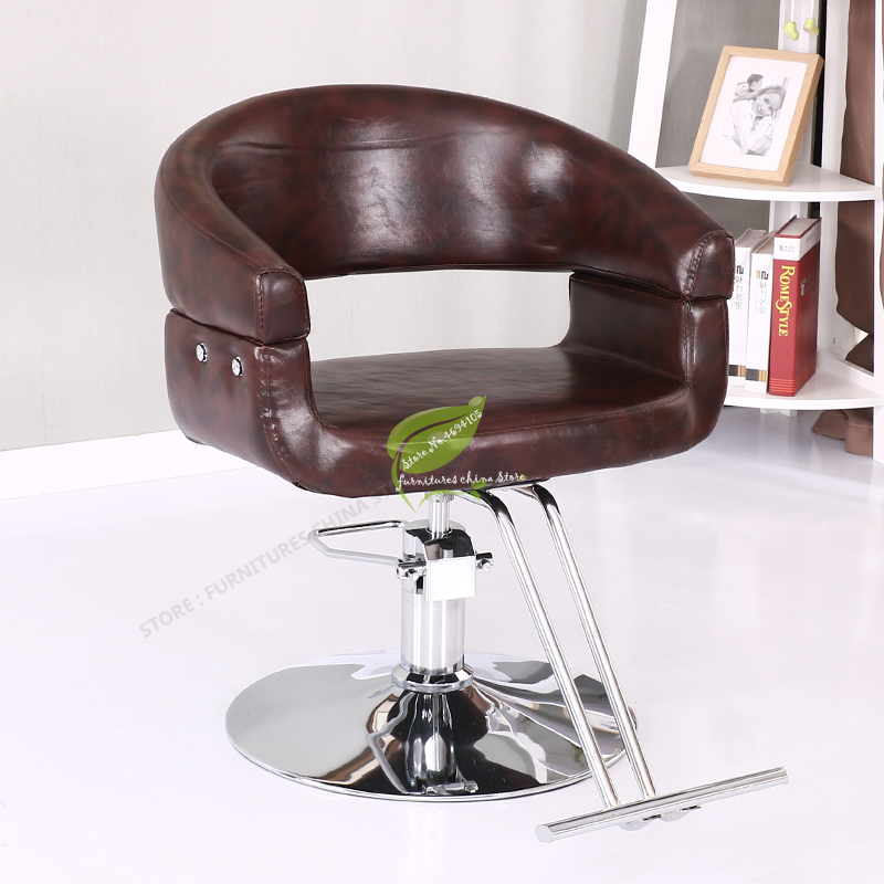 Modern Bar Stool Iron Bar Chair   Make Up Chair  Leather Fashion  Tabouret De Bar Commercial Furniture