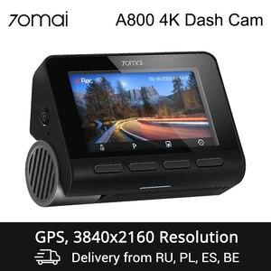 70mai A800 4K Dash Cam 4K GPS Built-in ADAS DVR Dual-Vision 140 FOV Real 4K UHD Cinema-quality video Camera