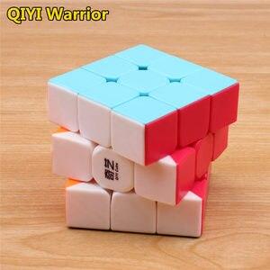 Image 3 - Qiyi warrior s cubo de magia colorido, velocidad sin pegatinas, cubo 3x3, antiestrés, 3x3x3, rompecabezas educativo, Juguetes