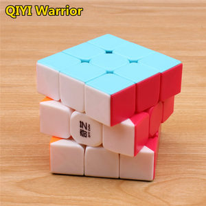 Image 3 - qiyi warrior s Magic Cube Colorful stickerless speed 3x3 cube antistress 3x3x3 Learning&Educational Puzzle Cubes Toys