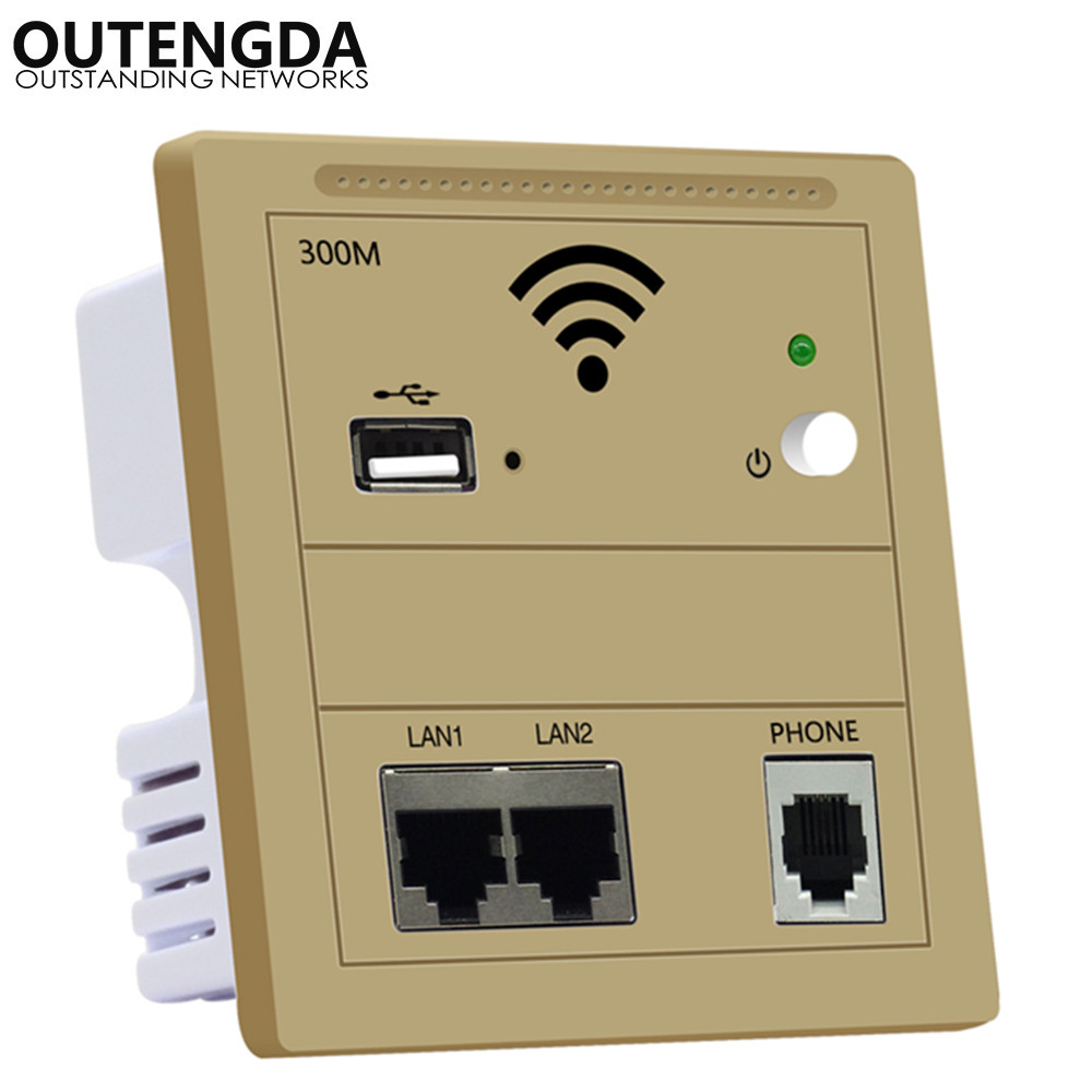 WiFi Router Wall USB Access Point Wireless In Wall AP Socket Router Wall Plug Wifi Repeater 220v Gold White Black