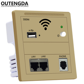 WiFi Router Wall USB Access Point Wireless in Wall AP Socket Router Wall Plug Wifi Repeater 220v Gold White Black hot sales silver usb socket wireless wifi usb charging socket wall embedded wireless ap router 300m wifi repeater free shipping