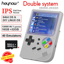 Double System Linux Retro Video Game Console 2.8 inch IPS Screen Portable Handheld Game Player RG300 32GB TF 13000 Classic Games
