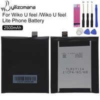 YILIZOMANA Original Replacement Smart Phone Battery 2500mAh For Wiko U feel / Wiko U feel Lite Li-ion Batteries + Free Tools Kit