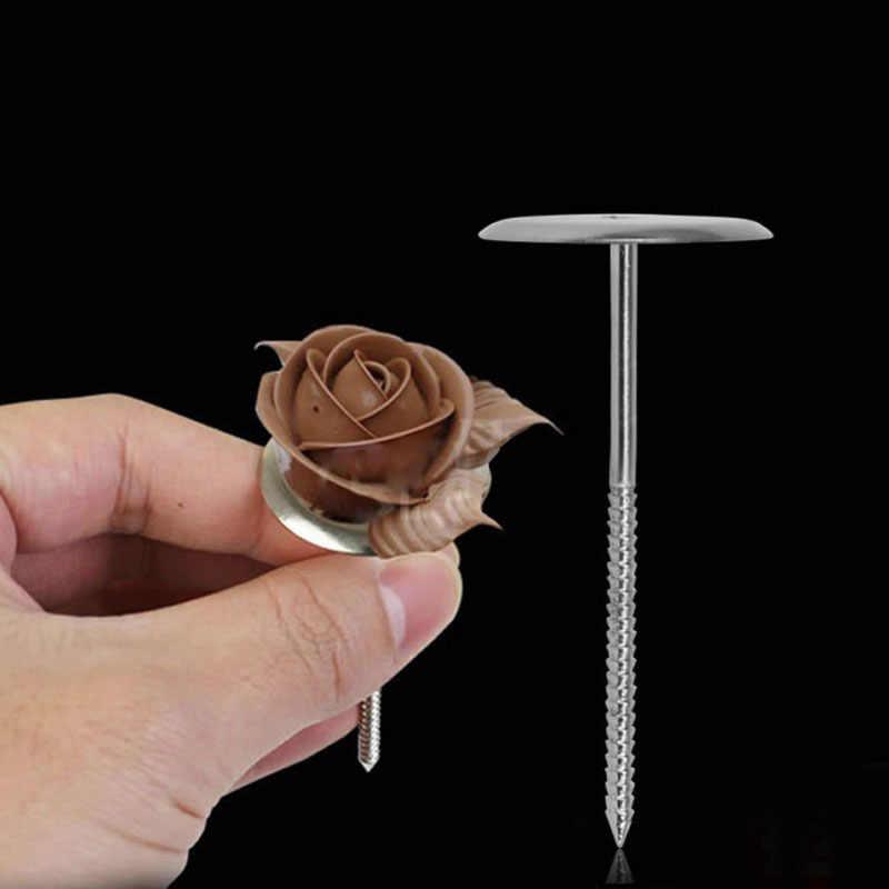 אפיית צנרת עומד כלים DIY מחט מקל גלידת עוגת כלים לקשט עוגת פרח ציפורניים נירוסטה צנרת נייל