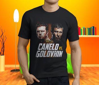 Nowe popularne Canelo vs Golovkin boks męska czarna koszulka rozmiar fajne Casual duma t koszula mężczyzna Unisex nowa modna koszulka
