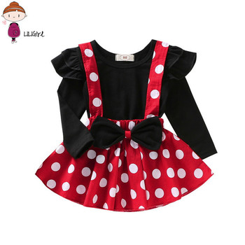 Tollder Girls Minnie Dress For Baby Girls Photography Polka Dot Suspender Skirt Match Romper Girls Birthday Clothes Cake Outfit autumn thanksgiving fall winter baby girls brown orange turkey outfits polka dot pant clothes ruffle boutique match accessories