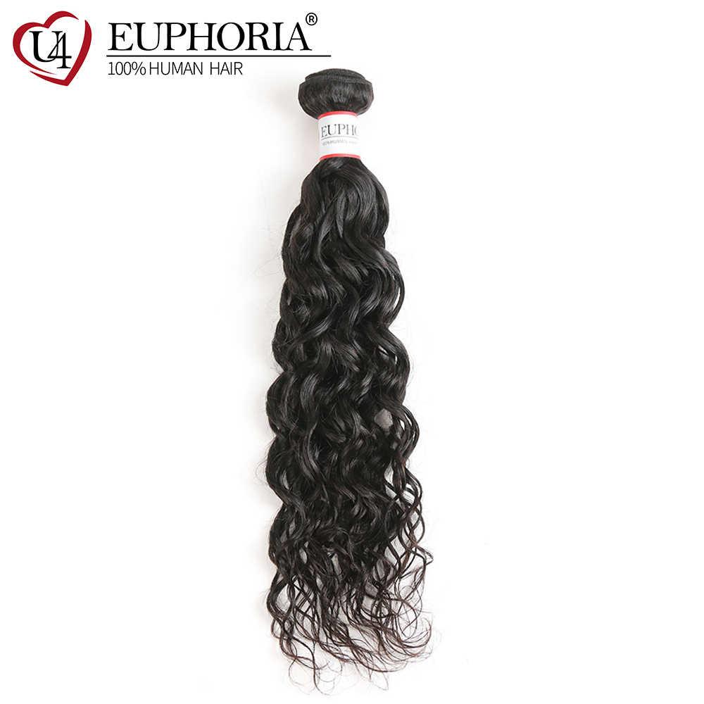 Su dalgası Remy saç demetleri Euphoria brezilyalı saç örgü demetleri 1 parça doğal renk 100% insan paket saç atkı uzantıları