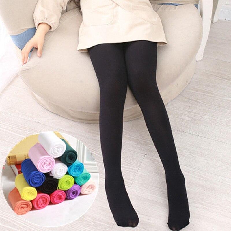 Meninas collants para crianças outono inverno algodão estiramento magro meia-calça 3 6 8 10 12 14 anos crianças preto ballet dança meias
