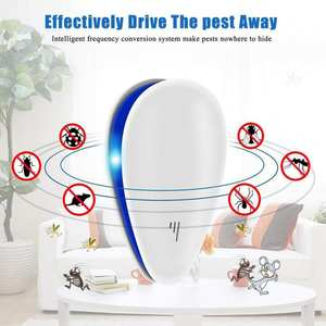 Insect Repellent Spider Ultrasonic Pest Mouse Mosquito Deworming 1set Dropship