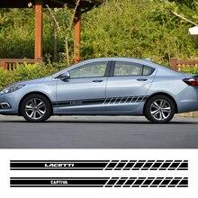 2PCS Auto Aufkleber Für Chevrolet Lacetti Cruze Captiva Equinox Trax Impala Camaro Z71 Sonic Funken Segel Aveo SS Malibu zubehör