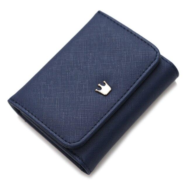 Porte Chequier Femme En Tissu Bleu Veritable