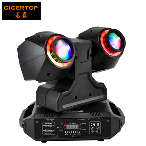 TIPTOP Stage Light 2 x 30W Led Beam Moving Head Light with RGB 3IN1 Color Halo Ring Effect DMX 3CH/21CH Sound/Auto Running|light led rgb|light rgbtiptop lighting -