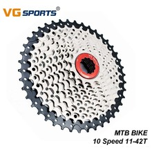 VG Sports MTB Bike Freewheel 10 Speed Cassette Gear 11-42T Wide Ratio Steel 10s Sprocket Mountain Bicycle Accessories 1 10 groupset 10 speed shifter rear derailleur 10s 11 42t cassette k7 group set for mtb mountain bike parts m610 m670 x5 x7