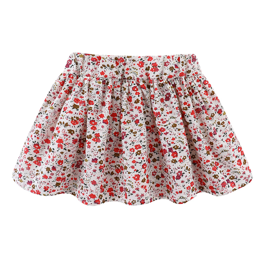 Mudkingdom Cute Girls Clothes Sets Floral 2Pcs Cartoon Kids Ruffle Sleeve Tank Top and Skirt Outfits Adorable 5