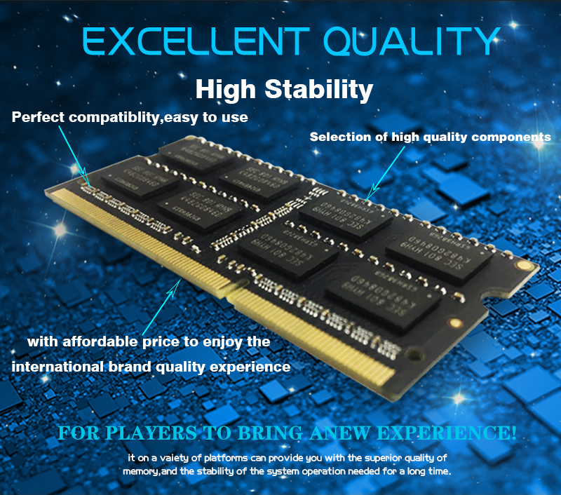 KANMEIQi DDR3 Laptop Memory With 2GB 4GB 8GB And 1333Mhz 1600MHZ 1866MHZ 9