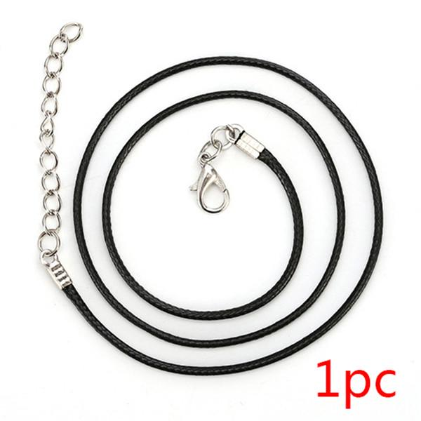 2019 Newr Arrival 1pcs 1.5mm Black Children Rope Necklace Adjustable For Pendants Necklace Making DIY Jewelry