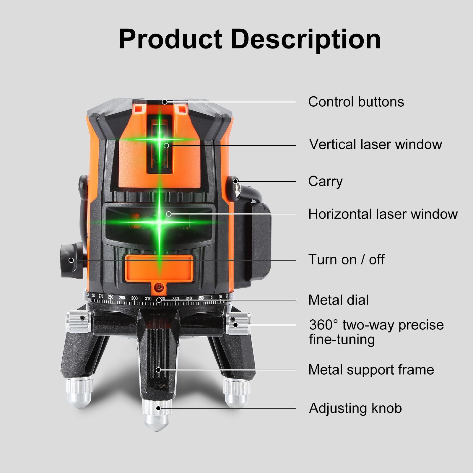linhas verdes do laser do nível 5