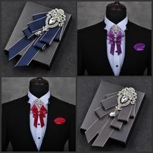 я-Remiel высокого класса британский стиль галстуки многослойные галстуки галстук для мужчин жениха Лучшие свадебные галстуки украшения аксессуары