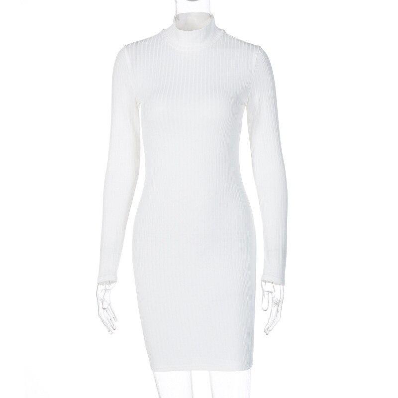 turtleneck bodycon dress21