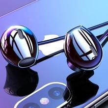 Kisscase fone de ouvido interno, fone de ouvido estéreo, com fio, controle baixo, som para samsung, xiaomi, tipo de 3.5mm c fones de ouvido sem fio