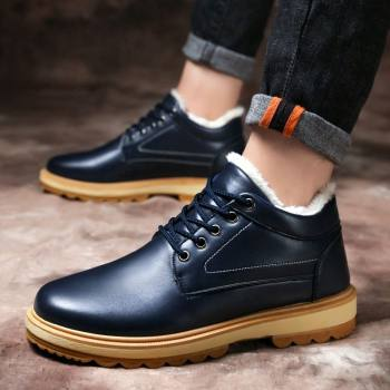Men's Snow Boots 2020 New Winter Sneakers Trend Warm Non-slip Men Shoes Casual Shoes Plus Velvet Thick Cotton Shoes NanX336