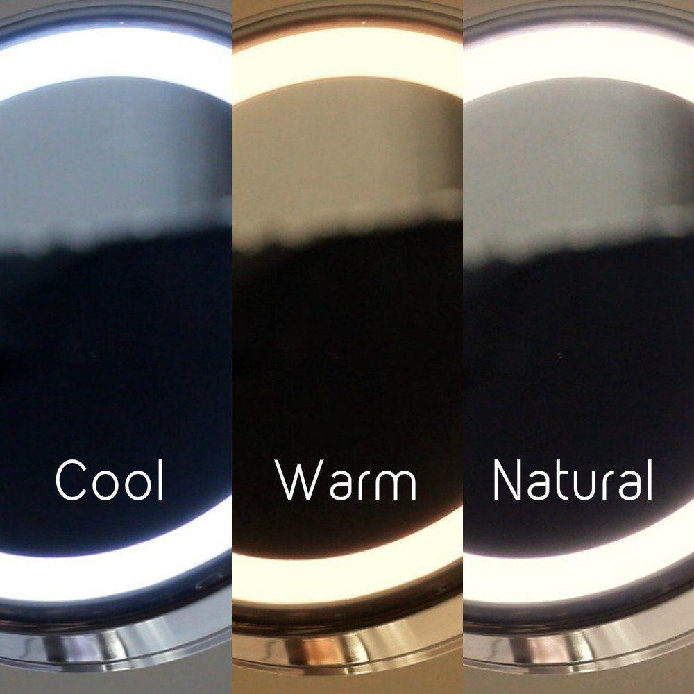 Регулируемый 18 светодиодный зеркало для макияжа с лампой с 10X увеличением присоска зеркало портативное увеличительное косметическое зерка... - 5