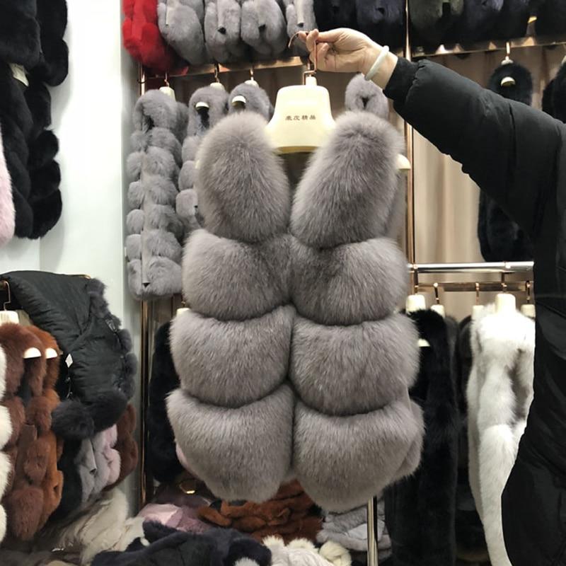 Rf0132  Real Fur Vest Fox Fur Waistcoat 100% Full Pelt Fashion Sleeveless Woman's Fox Fur Vest